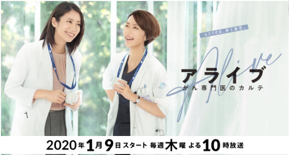松下奈緒×木村佳乃/ドラマ・アライブを見逃し配信を無料視聴する方法